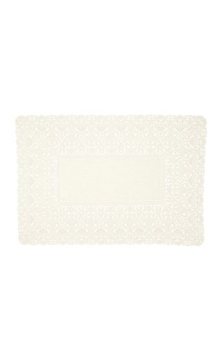 Rectangular Lace Placemat with Napkin