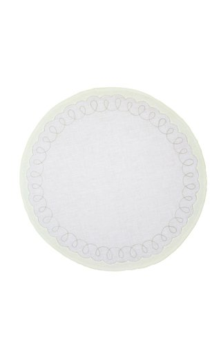 Embroidered Round Placemat with Napkin