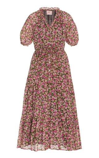 Poppy Floral Cotton Voile Midi Dress