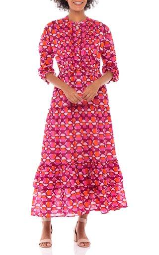 Brenda Floral-Print Cotton Voile Dress