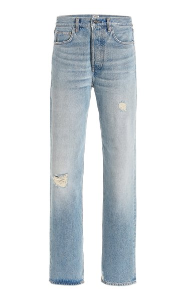 Distressed Rigid High-Rise Loose-Fit Jeans