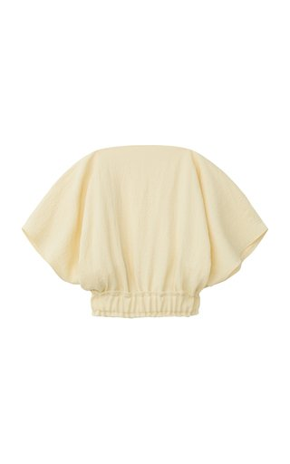 Raw-Edge Crepe Cropped Top