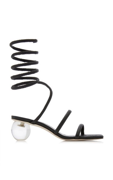 Freya Lace-Up Raffia Sandals