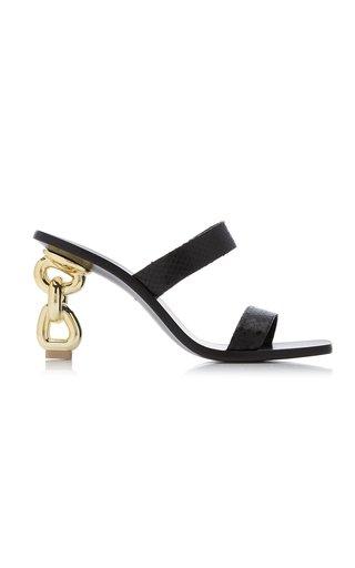 Vivianne Snake-Effect Leather Sandals