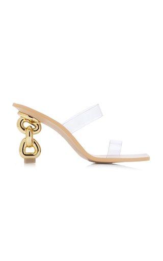 Vivianne Leather PVC Sandals