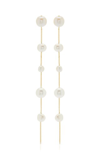Atum Brass and Pearl Earrings