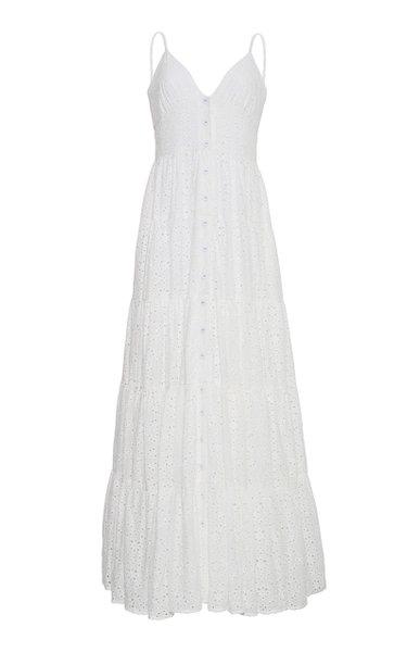 Nathali Cotton Broderie Anglais Maxi Dress