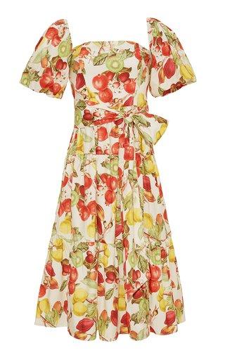 Sydney Printed Cotton Midi Dress
