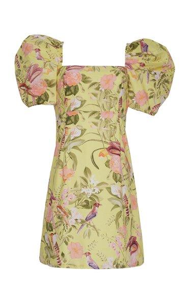 Kelly Smocked Poplin Mini Dress