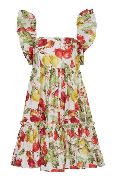 Lexa Floral Cotton Mini Dress