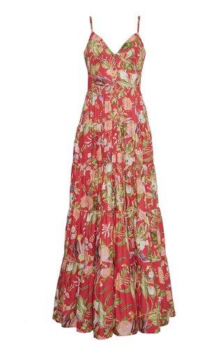 Nathali Printed Cotton Poplin Maxi Dress