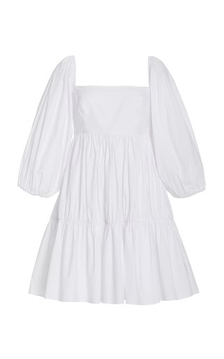 Sip Sip Tiered Cotton Poplin Mini Dress