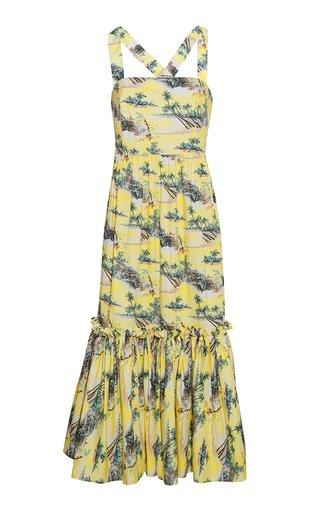 Julia Printed Cotton Poplin Midi Dress