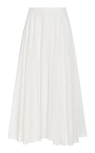 Aquinnah Broderie Anglaise Cotton Maxi Skirt