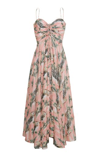 Maidstone Printed Cotton Voile Midi Dress