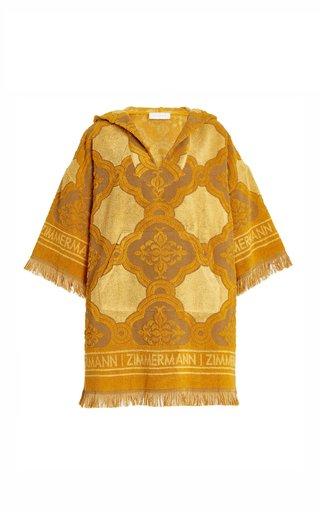 Aliane Fringed Cotton Terry Hooded Mini Dress
