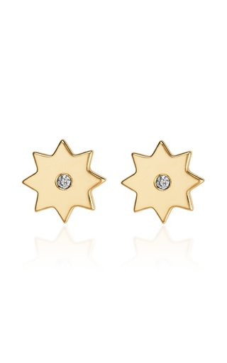 Kismet 18K Yellow Gold Sapphire Earrings