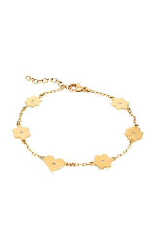 Icon Link 18K Yellow Gold Diamond Bracelet