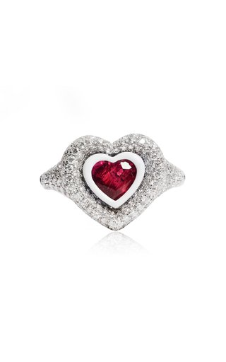 18K White Gold Manaal 2.0 Ruby Pinky