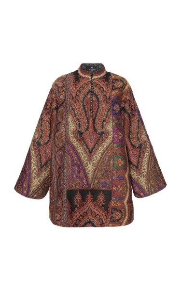 Paisley Crepe de Chine Mini Dress