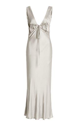 Carolinne Ruched Satin Dress