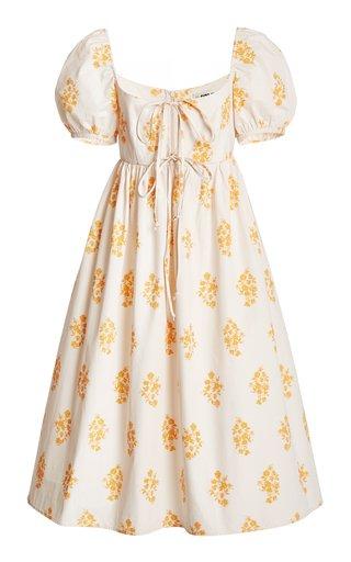 Alessia Printed Cotton Poplin Midi Dress