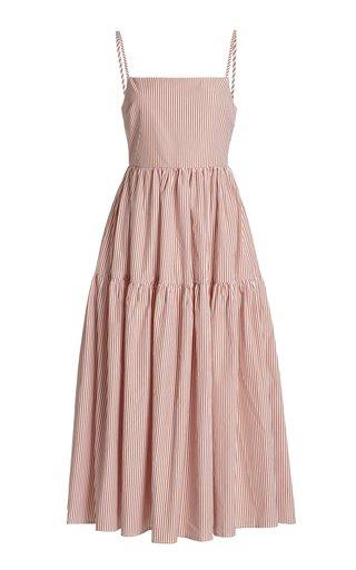 Gioia Striped Cotton Poplin Midi Dress