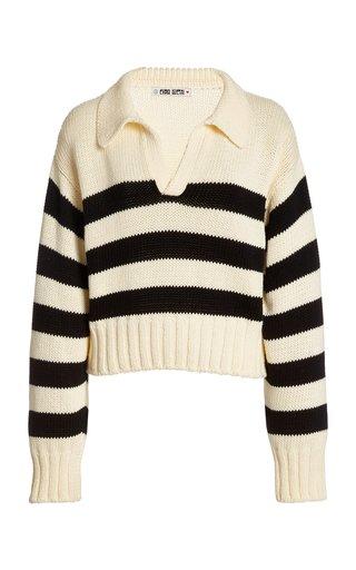 Venezia Striped Cotton Sweater