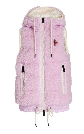 3 Moncler Grenoble Faux Shearling Hooded Down Vest