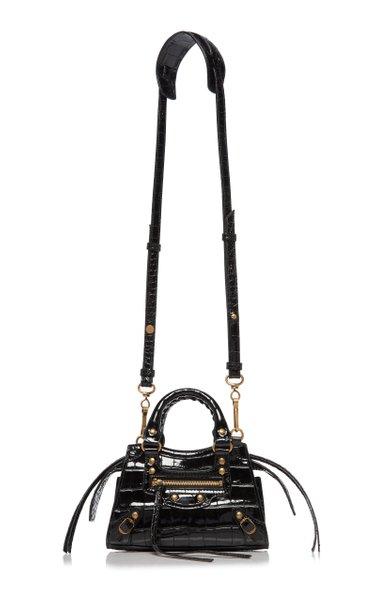 Neo Classic City Mini Croc-Effect Leather Bag