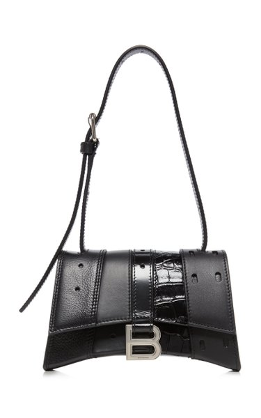 Hourglass XS Patchwork Leather Top Handle Bag
