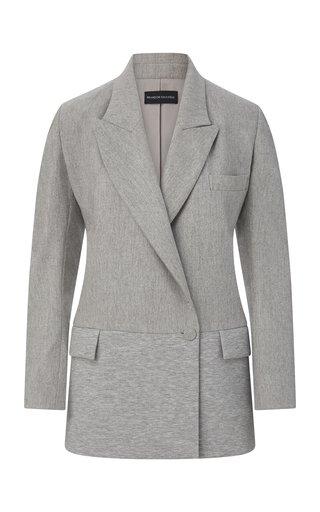 Long Wool-Cashmere Jersey Blazer