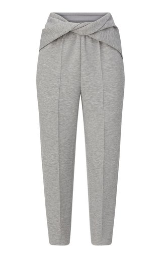 Twisted Jersey Tapered Pants