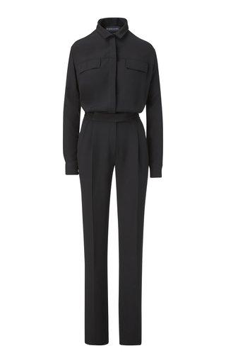 Button-Detailed Silk Jumpsuit