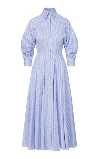 Striped Cotton Maxi Shirt Dress