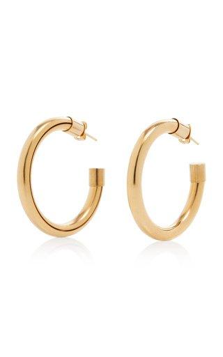 Gold-Tone Metal Hoop Earrings