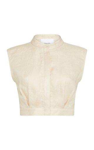 Minorca Linen Twill Crop Top