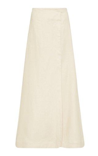 Seville Linen Twill Maxi Wrap Skirt