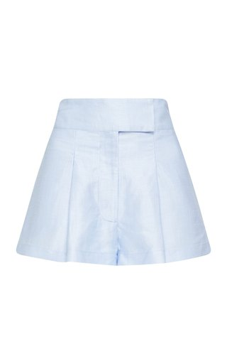 St Lucia Pleated Linen-Blend Shorts