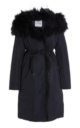 Crucianelle Faux Fur-Trimmed Long Down Coat
