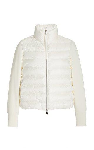 Wool-Detailed Down Puffer Jacket