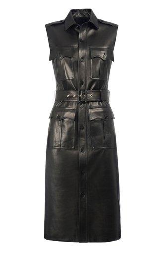 Tyson Leather Vest Dress