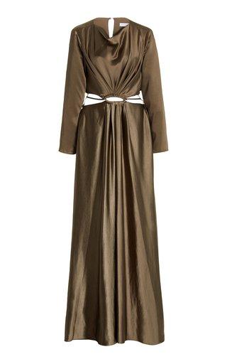 Kamryn Cutout Satin Midi Dress