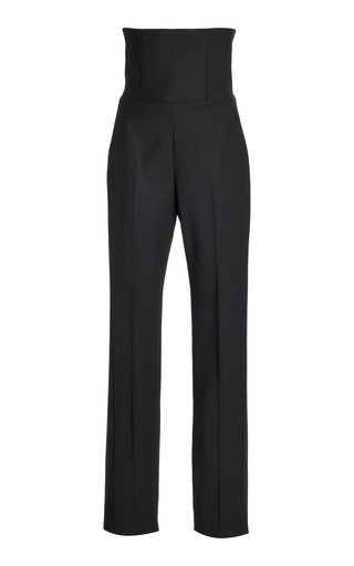 SpecialOrder-High-Rise Corset Wool Slim Trousers-GR