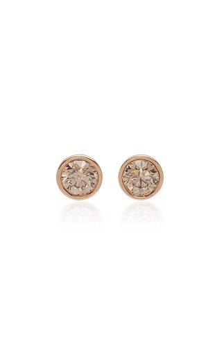 Bezel Set Champagne Diamond Earrings