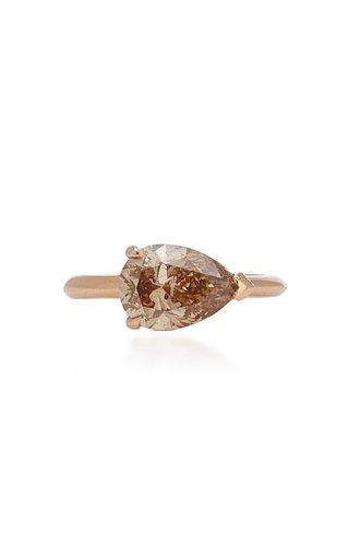Pear Shape Champagne Diamond Ring