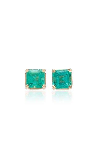 Emerald Cut Emerald Stud Earrings