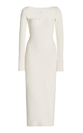 Freya Ribbed Jersey Midi Dress