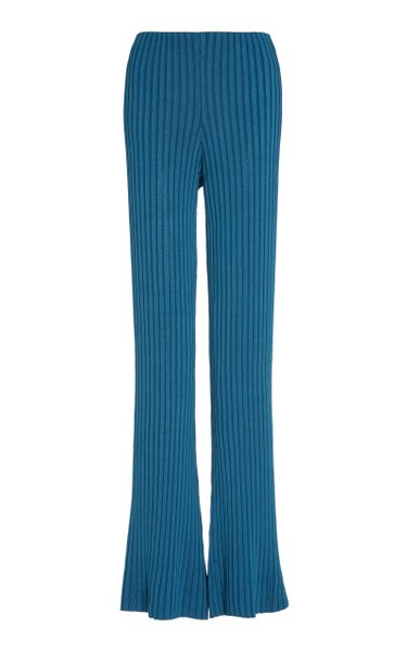 Rhea Ribbed-Knit Lounge Pants