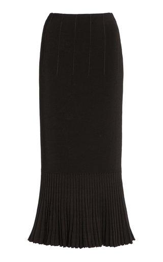 Atalanta Flared Compact-Knit Midi Skirt